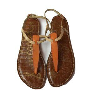 Sam Edelman Gigi 7.5 Tan Coral Leather Sandals